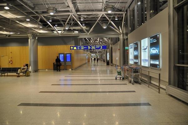 Lotnisko, korytarz, bezpieczeństwo