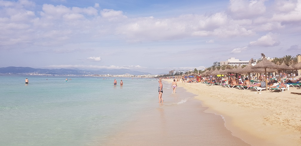 Majorka, plaża, Platja de Palma