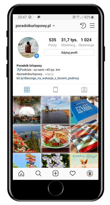 PoradnikUrlopowy.pl - profil na Instagramie