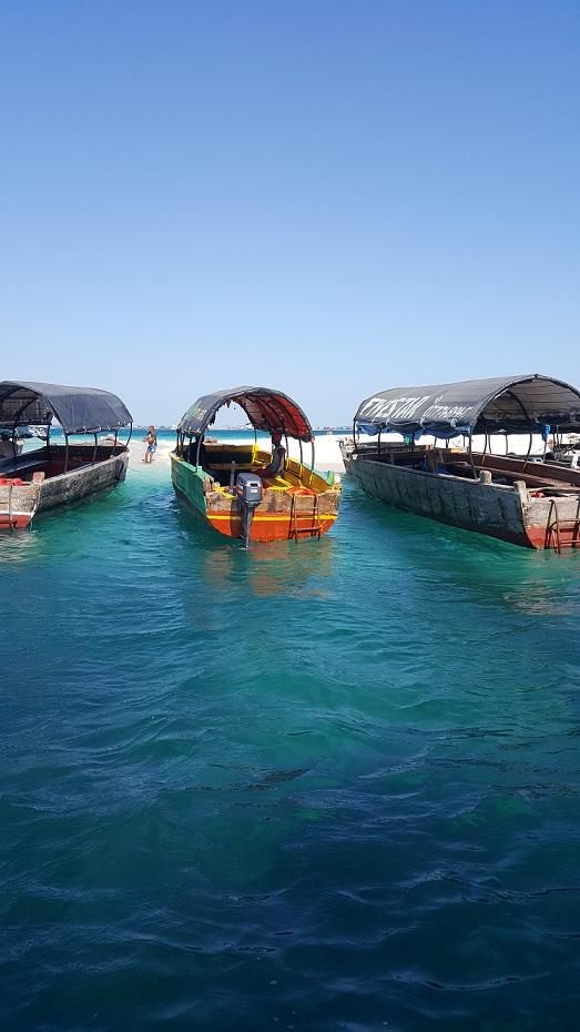 Zanzibar, łódki, Prison Island,