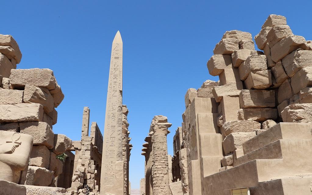 Egipt, Karnak - obelisk