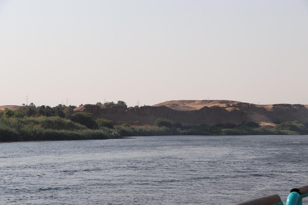 Egipt - Nil - widok ze statku