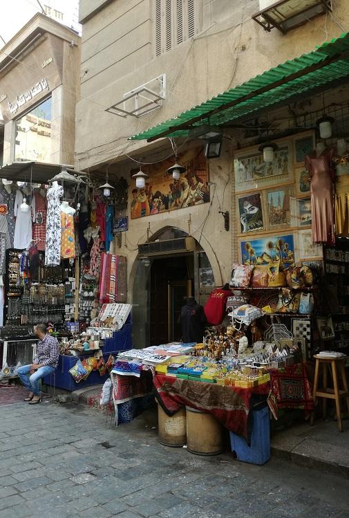 Egipt bazar z pamiątkami w Kairze ciężko się zdecydować co wybrać