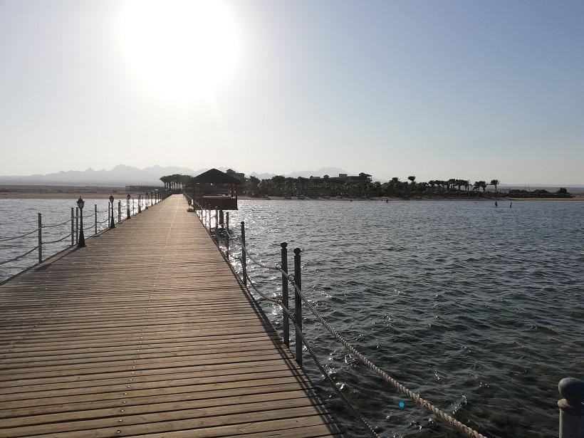 Wejście do morza - Egipt, pomost