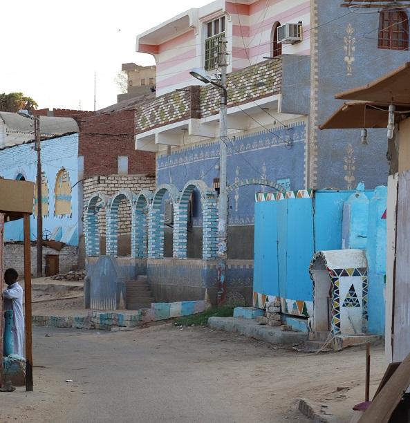 Egipt - uliczka wioska nubijska