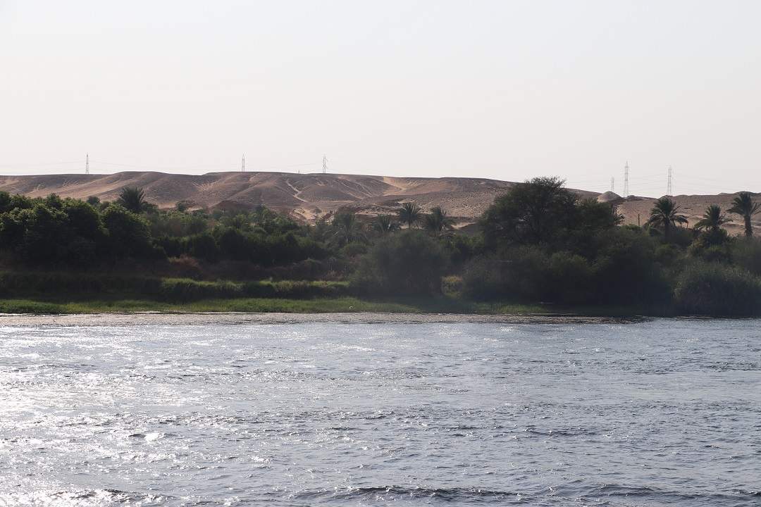Egipt - widok ze statku - rejs po Nilu