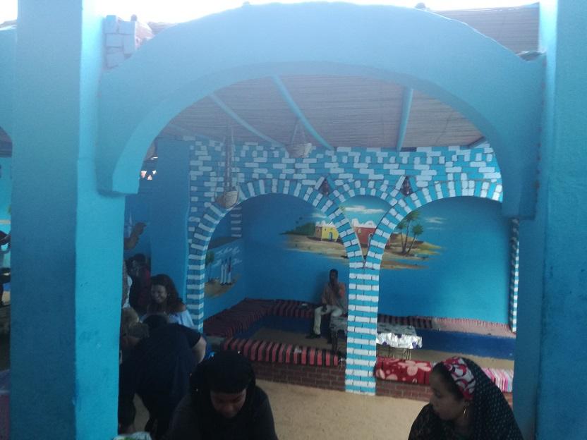Wnętrze domku nubijskiego