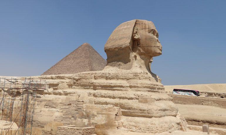 Egipt - Sfinks - jedna z najsłynniejszych budowli