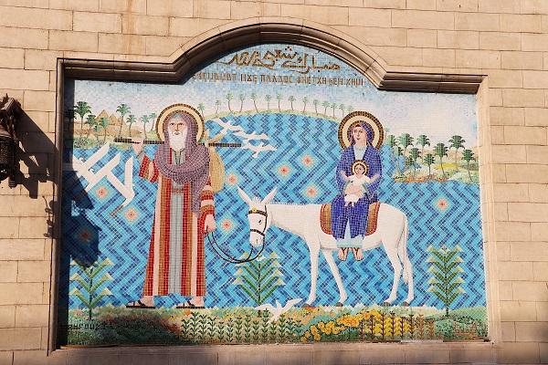 Egipt, Stary Kair, malowidło kościelne