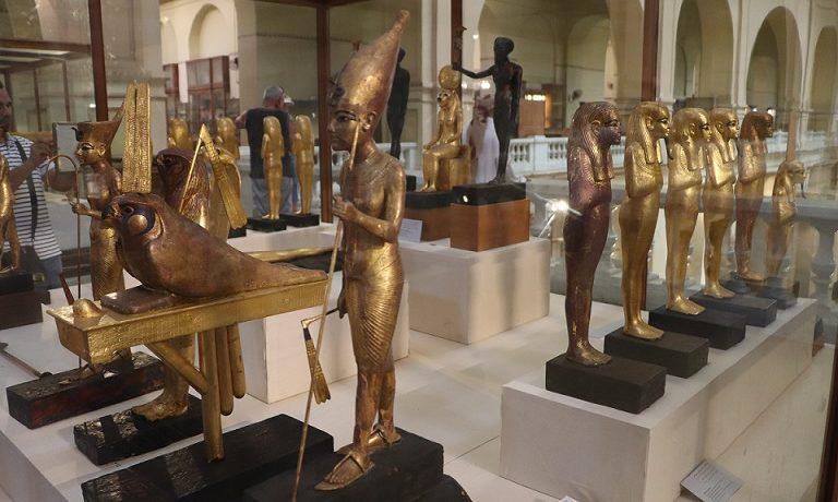 Eksponaty w kairskim muzeum