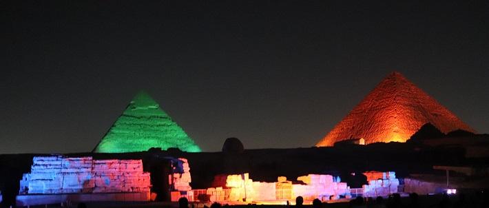 Egipt, Piramidy, spektakl świateł