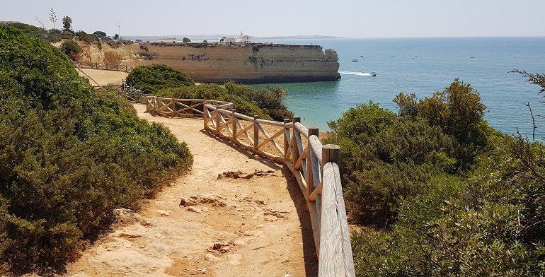 Algarve, Portugalia, ścieżka, klif