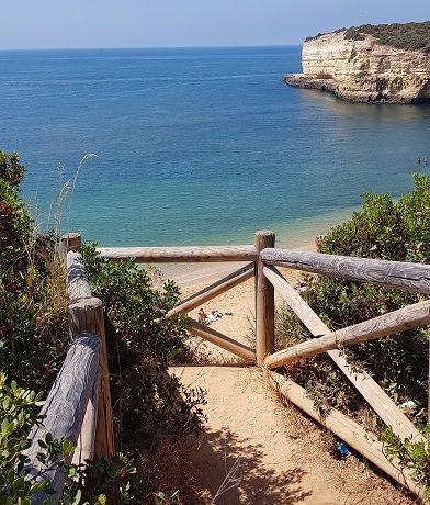 Algarve, ścieżka, klif, Portugalia