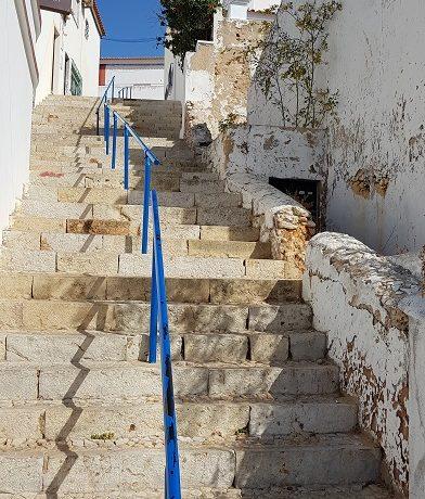 Algarve, Carvoeiro, schody