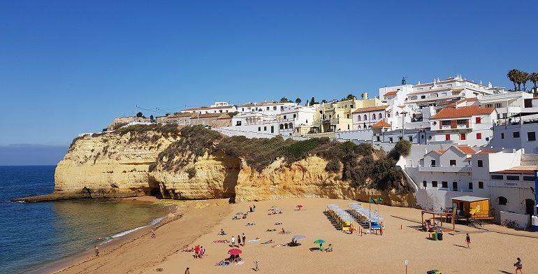 Carvoeiro, plaża, Algarve