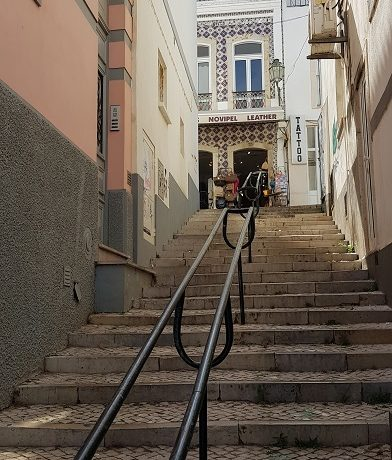 Algarve, Lagos, schody