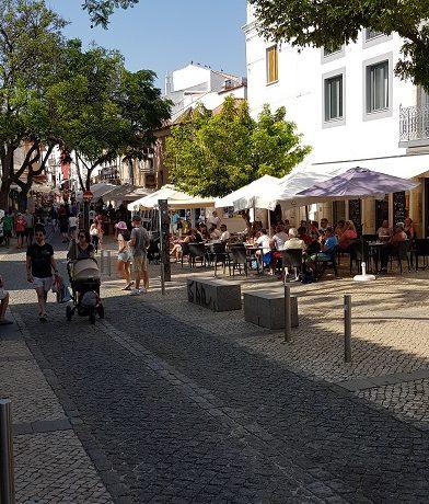 Lagos, Algarve, stare miasto, restauracja,