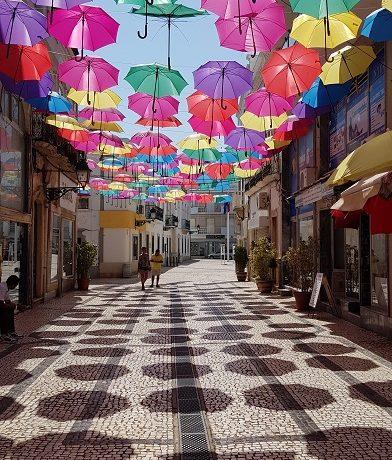 Olhao, Algarve, parasolki