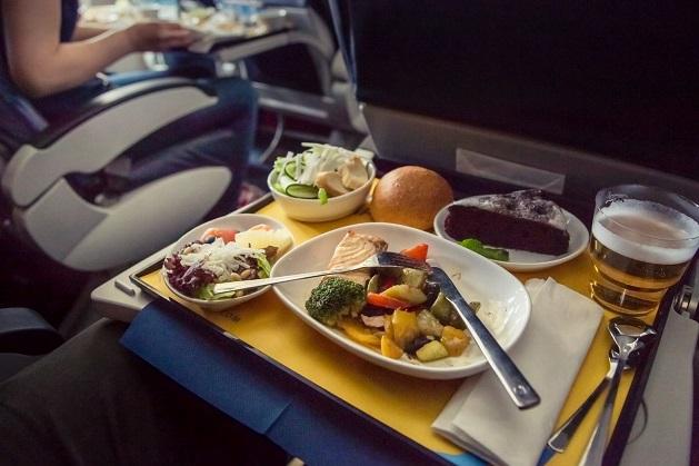Samolot, jedzenie,