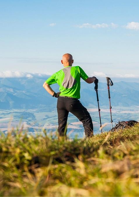 Góry, kijki, nordic walking