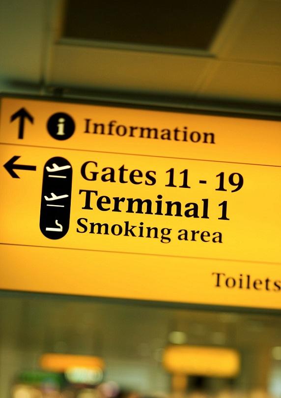 Lotnisko, odprawa