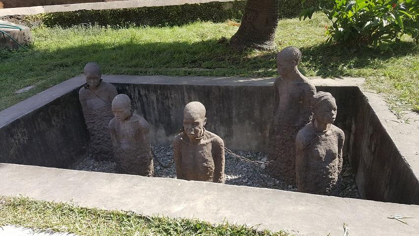 Zanzibar, Stone Town, rzeźba niewolników