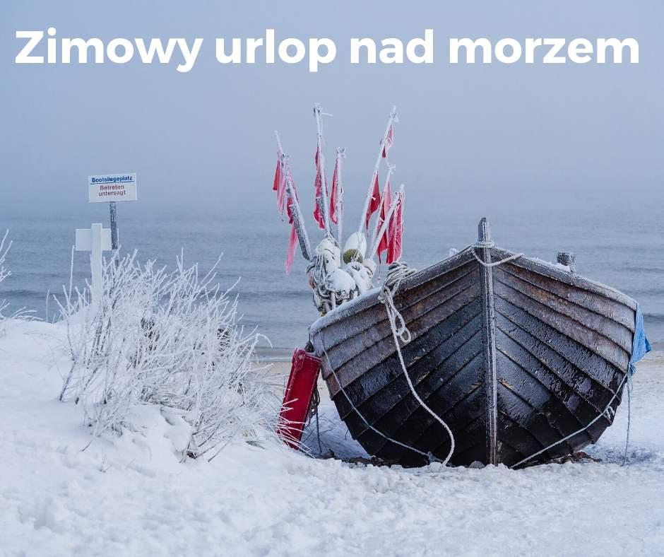 Morze, zima, łódka