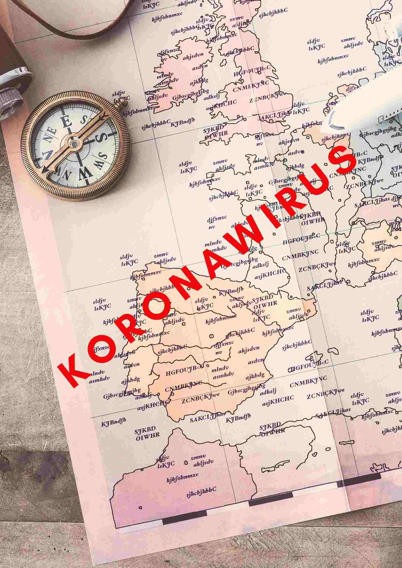 Koronawirus, urlop, mapa