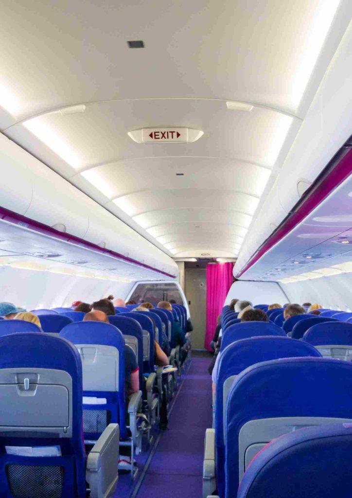 Samolot, pasażerowie,