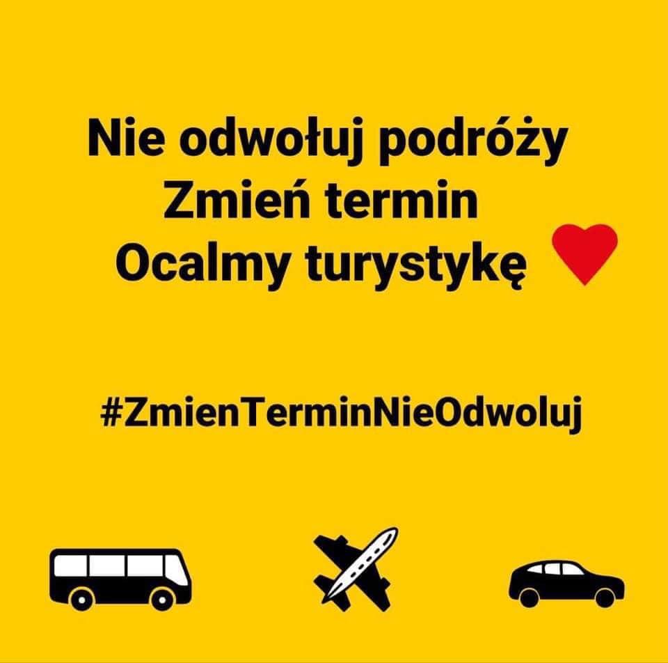 Plakat, akcja, wspieram turystykę