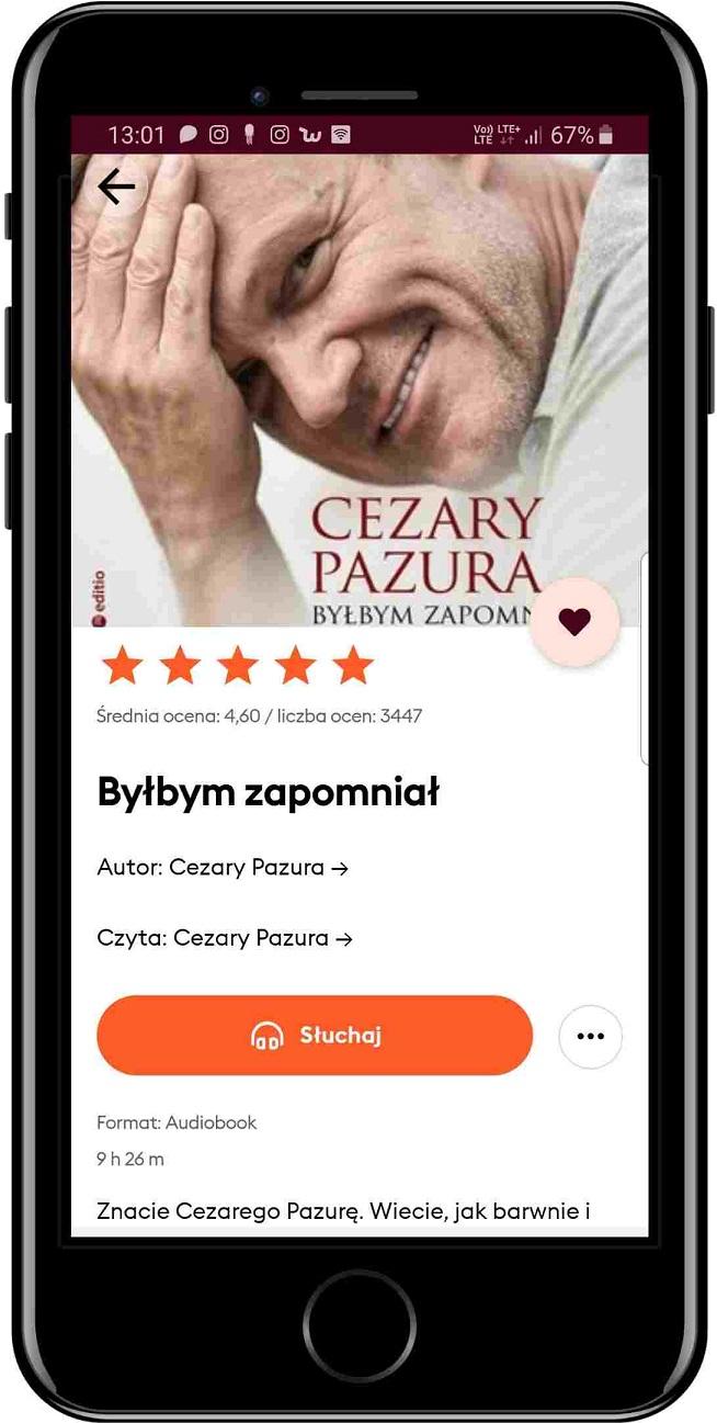 Audiobook, Byłbym zapomniał, Cezary Pazura, Storytel
