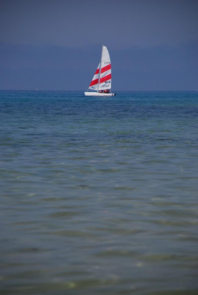 Korfu, morze, żaglówka