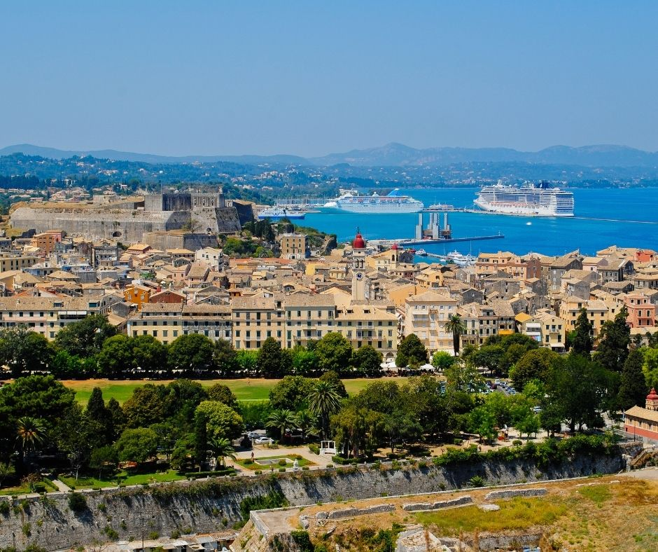Korfu - widok ze Starej Fortecy
